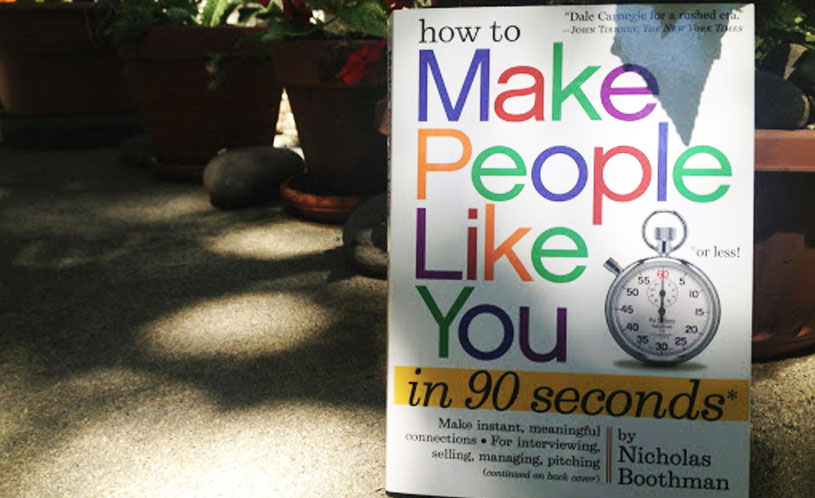 How to make people like you in less than 90 seconds by Nicholas Boothman