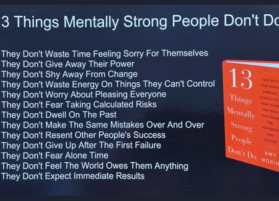 13 things mentally strong people can't do